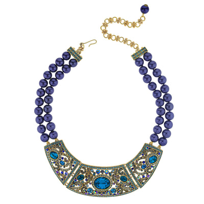 """Jeweled Extraordinaire"" Crystal Beaded Necklace"