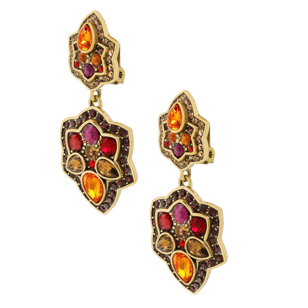 """Foliage Fortune"" Crystal Floral Drop Earring - Heidi Daus®"