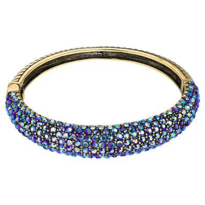 """Hugs from Heidi"" Crystal Bangle Bracelet"