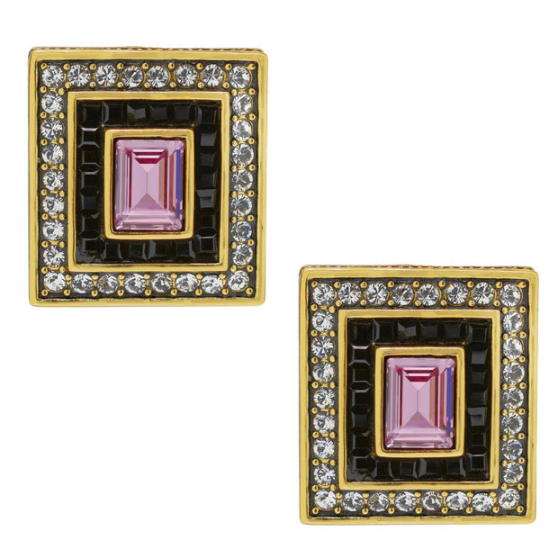 "HEIDI DAUS® ""Breathtaking Baguettes"" Crystal Button Earrings - Heidi Daus®"
