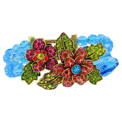 "HEIDI DAUS®""Pretty Polly"" Beaded Crystal Flower Bracelet - Heidi Daus®"