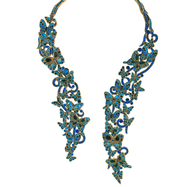 "HEIDI DAUS®""Mythical Monarch"" Crystal Collar Butterfly Necklace - Heidi Daus®"