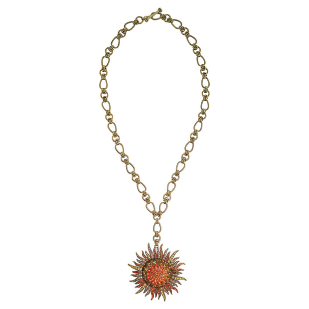 "HEIDI DAUS®""Sun Queen"" Chain Crystal Toggle Necklace - Heidi Daus®"