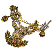 "HEIDI DAUS®""Christmas Cheer"" Crystal Deer Pin - Heidi Daus®"