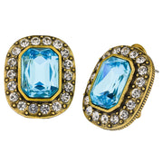 """Tailored to Please"" Crystal Button Earrings - Heidi Daus®"