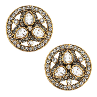 """Goddess Of Beauty"" Crystal Button Earrings - Heidi Daus®"