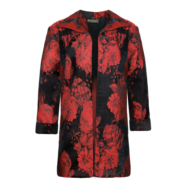 "HEIDI DAUS® ""Moulin Rouge"" Black and Red Floral Jacket - Heidi Daus®"