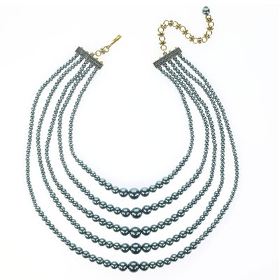 """Not A Whole Lotta Drama"" Pearl Multi-Strand Necklace"