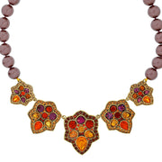 """Foliage Fortune"" Crystal Beaded Floral Necklace - Heidi Daus®"