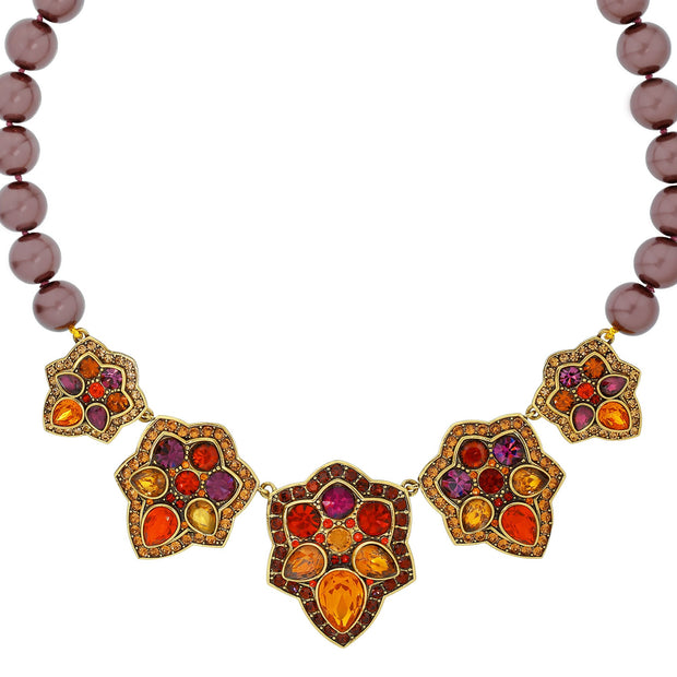 "HEIDI DAUS® ""Foliage Fortune"" Crystal Beaded Floral Necklace - Heidi Daus®"
