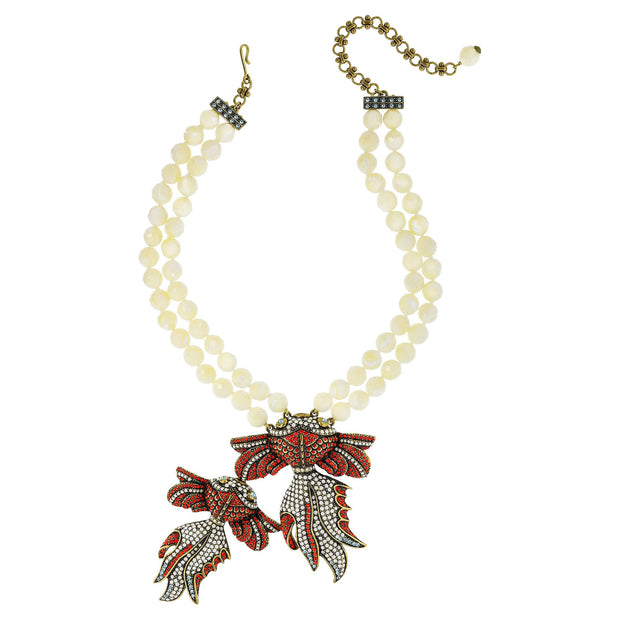 """The Reel Mckoi II"" Swarovski Fish Drop Necklace - Heidi Daus®"