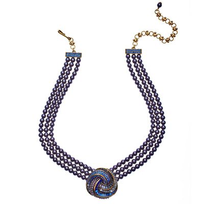 """Sultry Swirl"" Crystal Multi-Strand Necklace"
