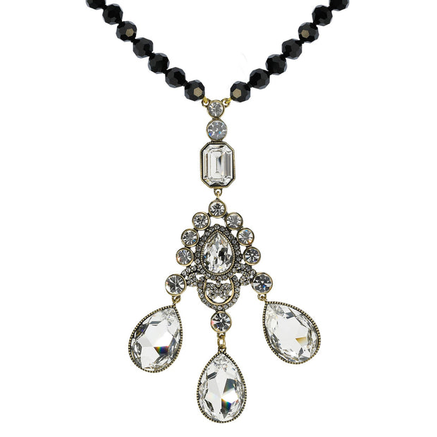 """Clothing Optional"" Beaded Crystal Drop Necklace - Heidi Daus®"