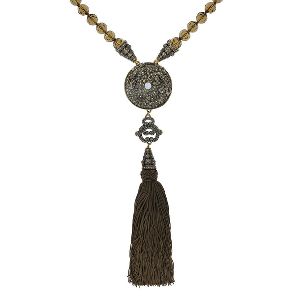 HEIDI DAUS® Chinois Glamour Crystal Beaded Drop Necklace - Heidi Daus®