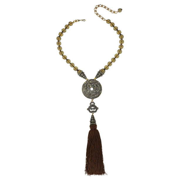 Chinois Glamour Crystal Beaded Drop Necklace - Heidi Daus®