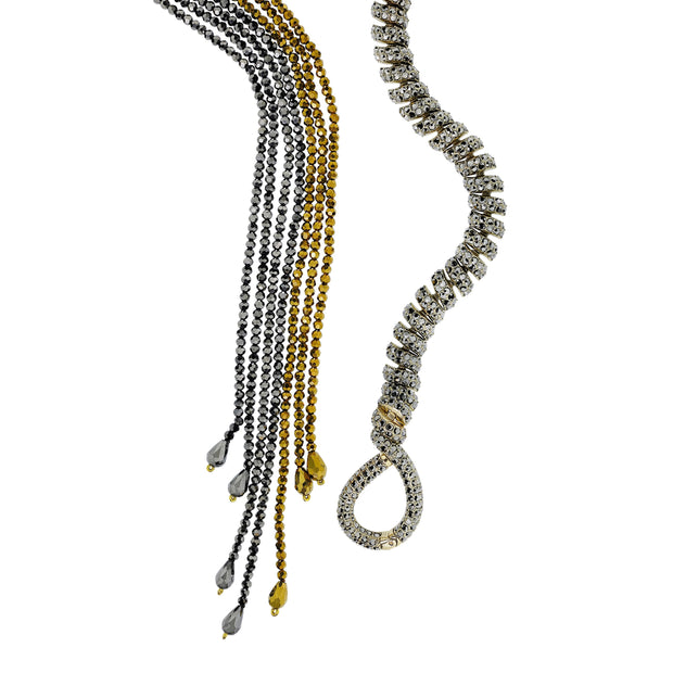 "HEIDI DAUS®""Sleek and Sophisticated"" Crystal & Beaded Necklace - Heidi Daus®"