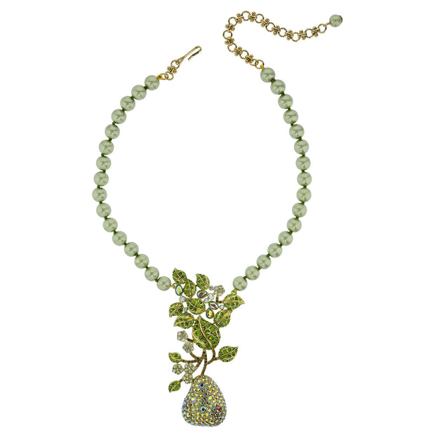 "HEIDI DAUS®""Elegant Anjou"" Crystal Beaded Pear Necklace - Heidi Daus®"