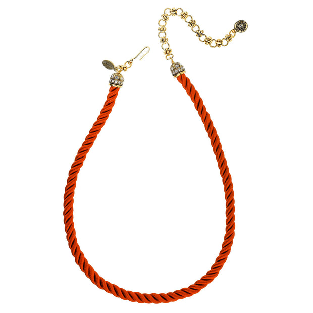 """Elegant Essentials"" Pin Enhancer Cord Necklace - Heidi Daus®"