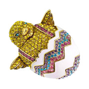 "HEIDI DAUS®""Which Came First"" Enamel & Crystal Chick Pin - Heidi Daus®"