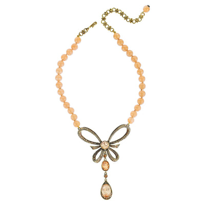 "HEIDI DAUS®""La Bella"" Beaded Crystal Bow Necklace - Heidi Daus®"
