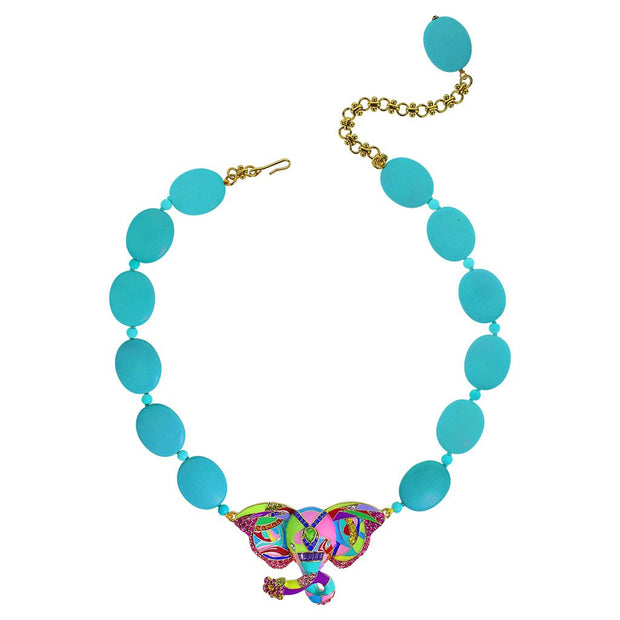 "HEIDI DAUS®""Unforgettable Expression"" Beaded Enamel Crystal Elephant Necklace - Heidi Daus®"