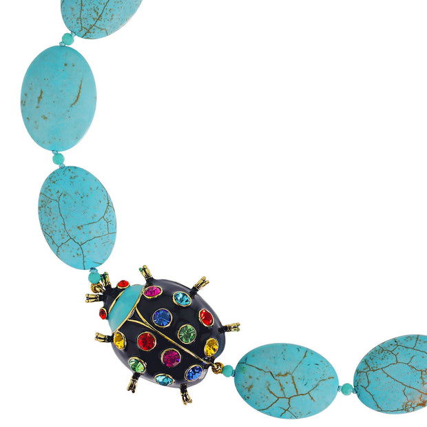 "Heidi Daus®""Critter Couture"" Enamel Beaded Crystal Ladybug Necklace - Heidi Daus®"
