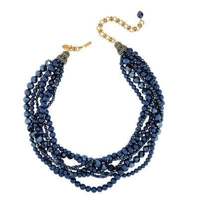 """Braided Beauty"" Beaded Necklace"