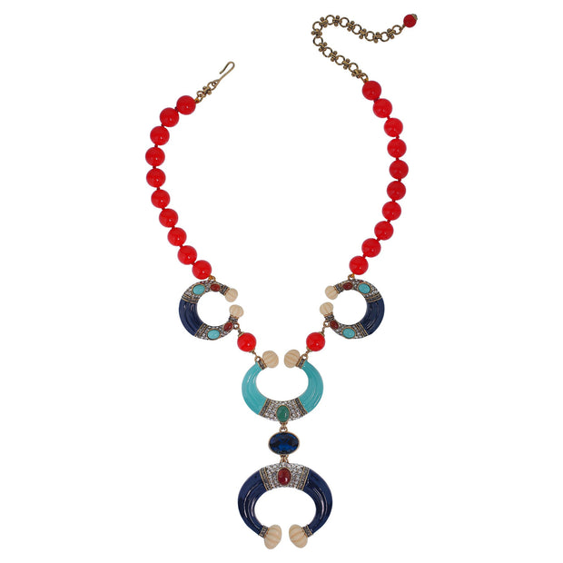 "Heidi Daus®""Modern Masterpiece"" Beaded Enamel crystal Deco Necklace - Heidi Daus®"