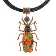 "HEIDI DAUS®""Big Critter"" Enamel Crystal Leather Critter Necklace - Heidi Daus®"