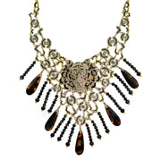 "HEIDI DAUS®""No Fear in Fierce"" Enamel Crystal Beaded Tiger Necklace - Heidi Daus®"