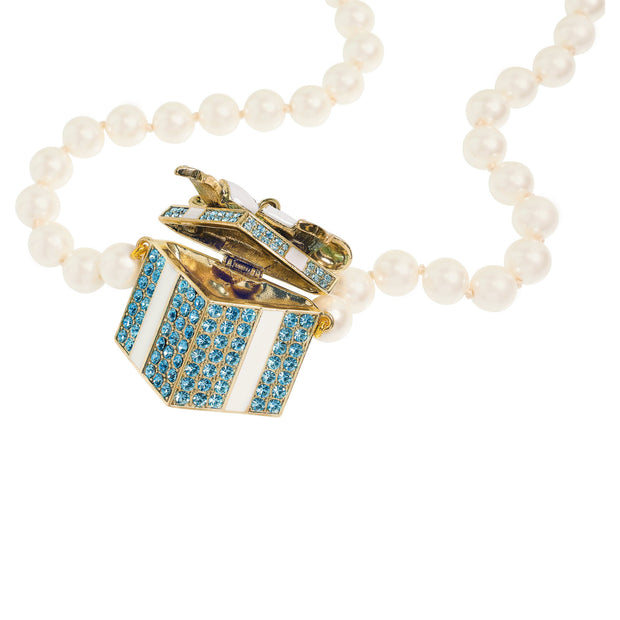 "HEIDI DAUS®""Today is a Gift"" Enamel Beaded Crystal Locket Necklace - Heidi Daus®"