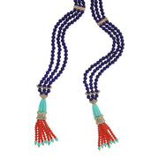 "HEIDI DAUS®""Supreme Strand"" Resin Beaded Crystal Lariat Necklace - Heidi Daus®"