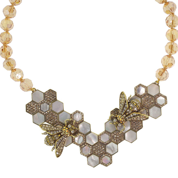 "HEIDI DAUS®""Nectar of the Gods"" Crystal Beaded Bee Necklace - Heidi Daus®"