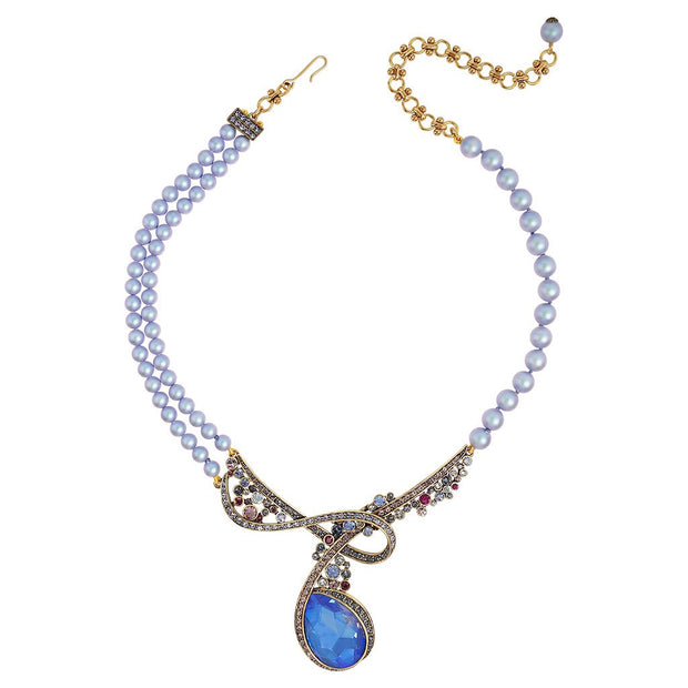 """Polished Pretty"" Pearl and Crystal Necklace - Heidi Daus®"