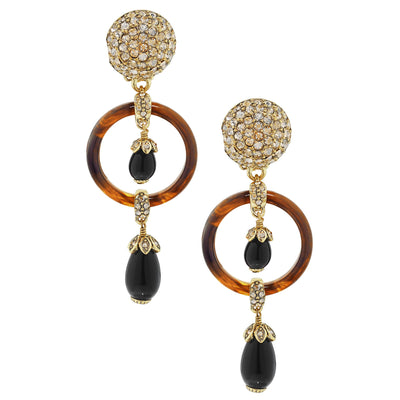 "HEIDI DAUS® ""Triple Threat"" Beaded Crystal Drop Earring - Heidi Daus®"