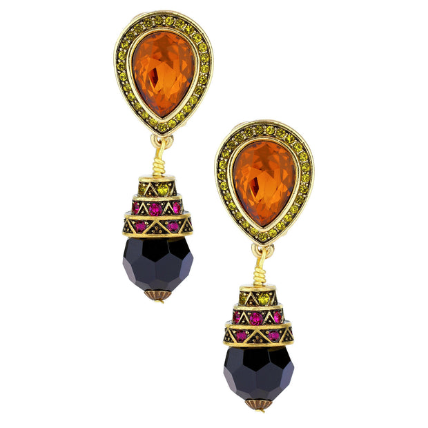 """Petite Cat's Pajamas"" Beaded Crystal Drop Earrings - Heidi Daus®"
