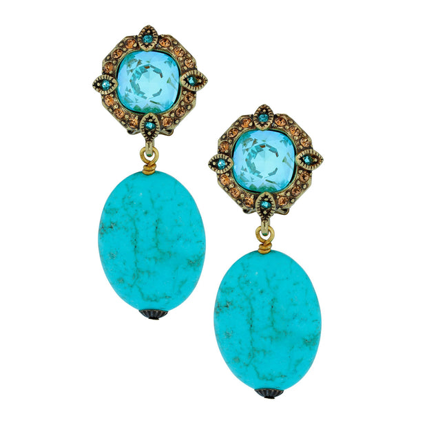"""A Twist of Fortune"" Crystal Drop Earrings - Heidi Daus®"