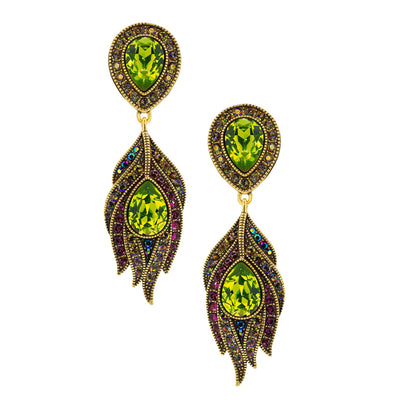 "HEIDI DAUS®""Strut Your Stuff"" Swarovski Crystal Drop Earrings - Heidi Daus®"