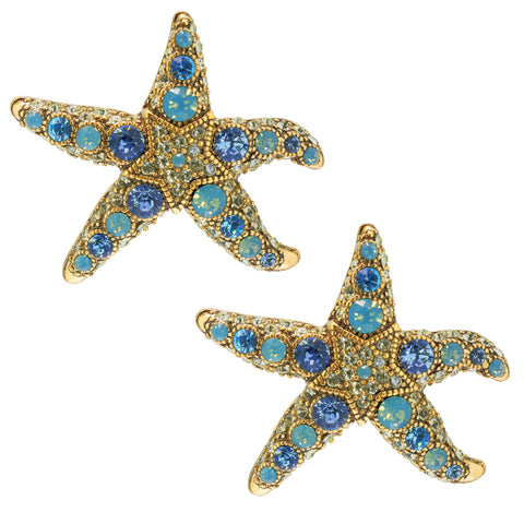 """Star-Lite"" Starfish Button Earrings"