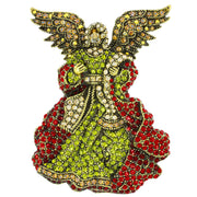 """Angel on Your Shoulder"" Crystal Angel Pin - Heidi Daus®"