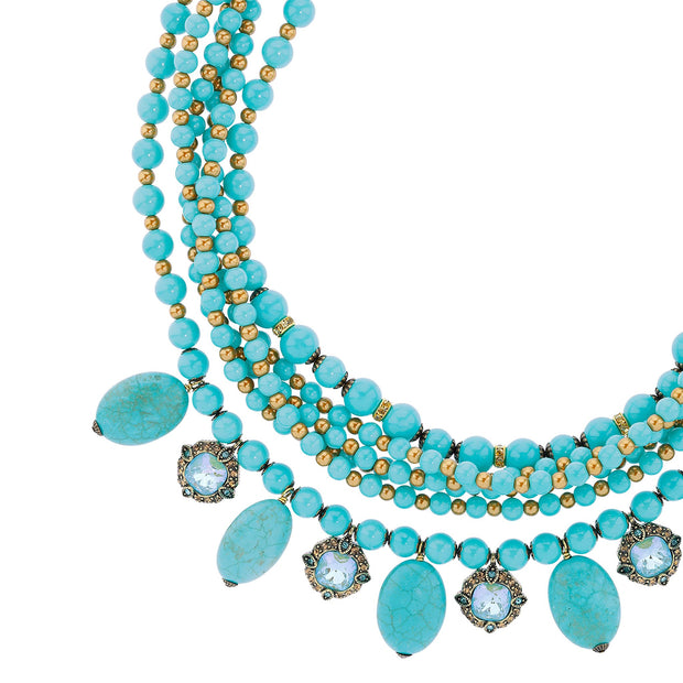 """A Twist of Fortune"" Crystal Beaded Necklace - Heidi Daus®"