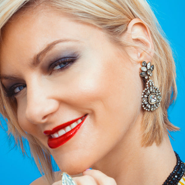 """Oooo La La"" Swarovski Deco Drop Earrings - Heidi Daus®"