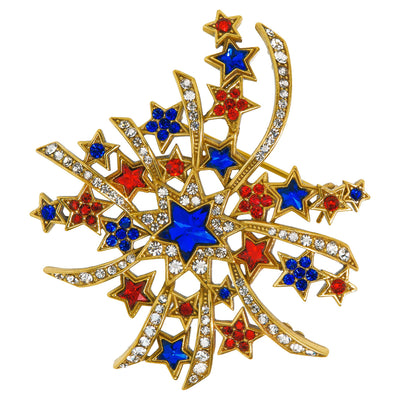 "HEIDI DAUS® ""Land of the Free"" Crystal Star Pin - Heidi Daus®"