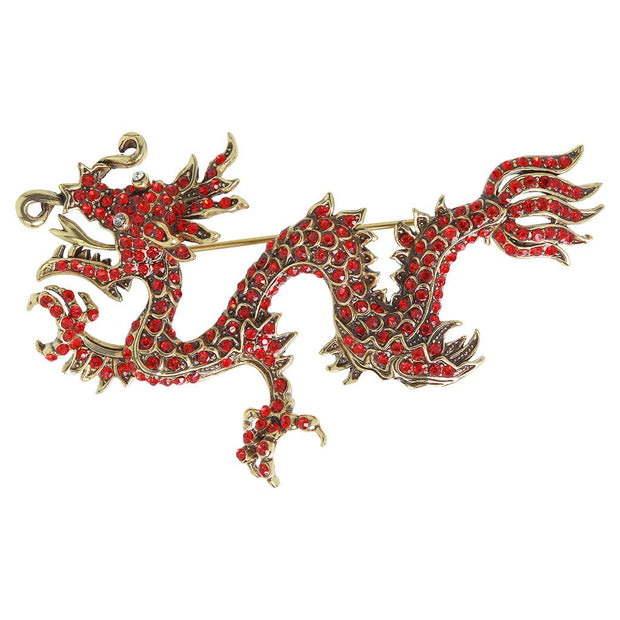 "HEIDI DAUS®""Shimmering Dragon"" Crystal Dragon Pin - Heidi Daus®"