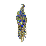 "HEIDI DAUS®""Let Down Your Feathers"" Crystal Peacock Pin - Heidi Daus®"