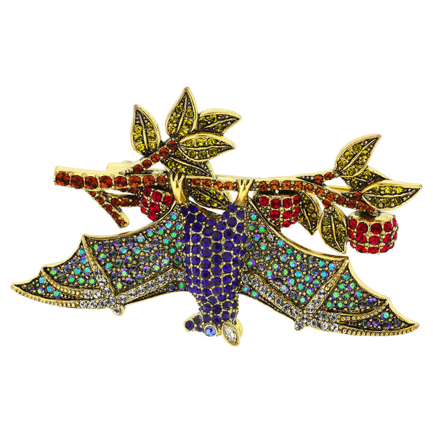 "HEIDI DAUS®""Hanging Out"" Crystal Bat Pin - Heidi Daus®"