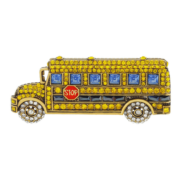 "HEIDI DAUS® ""School Days"" Crystal School Bus Pin - Heidi Daus®"