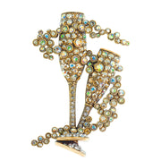 "HEIDI DAUS®""Champagne Celebration"" Crystal Champagne Glass Pin - Heidi Daus®"