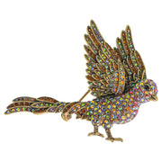 "HEIDI DAUS®""Flying Solo"" Crystal Bird Pin - Heidi Daus®"