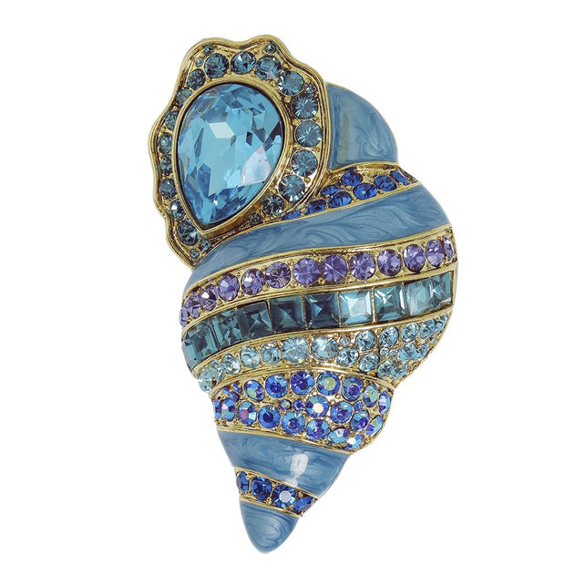 "HEIDI DAUS®""She Sells Sea Shells"" Crystal Enamel Shell Pin - Heidi Daus®"